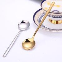 Paslanmaz Çelik Kaşık Ev Yuvarlak Yaratıcı Tatlı Kahve Karıştırma Kaşık Besleme Yemek Takımı Set Mutfak