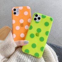 La fluorescenza della cassa del telefono di iPhone 11 Max XR XS Max 7 copertura posteriore 8 Plus X molle trasparente TPU Brevi Dots ultrasottile Pro