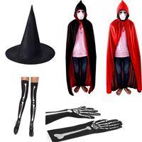 Хэллоуин игрушки плащ костяные носки рубцов татуировки наклейки 6 кусочков набор COS Ghost Festival Fitch Hat перчатки