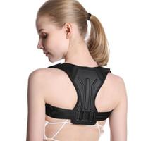 OOTDTY Einstellbare Haltungskorrektur Männer Frauen Rücken Schulter Gerade Unterstützung Klammer Gürtel bequemer weicher Streifen Corrector