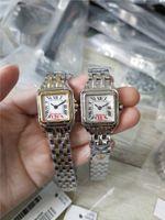 Relojes de mujer Caja de acero inoxidable Reloj de cuadrante blanco Relojes de cuarzo Brazalete de acero inoxidable 079