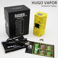 Hugo Buharı Rader ECO 200 W Modu Dual 18650 Tarafından Powered Piller OLED Ekran Vape Mod Kutusu 510 Konu Fit Buharlaştırıcı DIY RDA Tankı