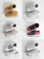 af1 بيع 2018 الاطفال مولود جديد حذاء رياضة مدرب الفتيان الفتيات الهواء عالية قطع أدنى واحد 1 أحذية دونك طفل أحذية الرياضة التزلج للأطفال أحذية رياضية