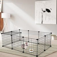 DIY Magic Film Bold Iron Net Pet Pet Supplies Suministros de animales Conejo Teddy Pequeño Perro Cerca Montaje Cat Cage House Villa