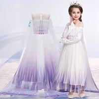 여자를위한 Anna Elsa 드레스 유니콘 생일 파티 공주 드레스 어린이 카니발 드레스 의상 코스프레 3-12 년 T200709