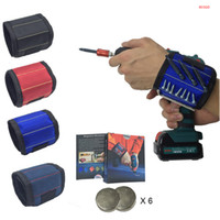 Magnetic Wristband Pocket Tool Belt Pouch Bag Screws Holder Holding Tools Magnetic Bracelets Practical Strong Chuck Wrist Toolkit BH2921 DBC