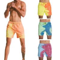 새로운 디자인 비치 반바지 마술 색 변경에 물 남자 수영 트렁크 수영복 빠른 건조 수영복 반바지 색 반바지를 변경 그건