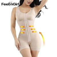 FeelinGirl Reductora Fajas Cuerpo Entero Shapers adelgaza Shaperwear Overbust Recuperación post-parto Body Shapers cintura Y200710
