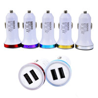 NoKOKO universel double ports USB 2.1A + 1A Rocket style Led adaptateur allume-cigare pour iphone 678 Xr 11 12 HTC Samsung