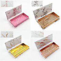 Hochwertige 3D-Echt Nerz 25mm Wimpern Luxus Nerz Streifen Spezialverpackungen Platz Peitsche Kasten alse Wimper Verpackungskasten Magnet Fall leer