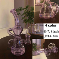 Neue Arrivial 7,8 Zoll groß 4 Farben Neues kleine Rückstau Glas bongs14mm bange Joint Glas Bohrinseln recyler Glasmalerei