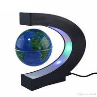 LED Carte du monde lévitation magnétique flottant Globe Accueil électronique Antigravity C forme lampe boule de lumière Nouveauté Cadeaux d'anniversaire