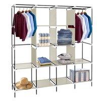 Multifunktionale Moderne Moderne Einfache Installation von Schlafzimmer Storagen Schrank Tragbare Kleiderschrank Kleidung Lagergestell 12 Regale