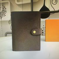 R202405 R20240 R20242 وسيلة الأجندة المتوسطة غطاء المفكرة ورقة بيضاء دفتر مكتب السفر يوميات Jotter المفكرة 6 فتحات بطاقة الائتمان فتحات