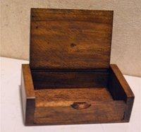 50pcs Toothpick Box Legno Portastuzzicadenti Mini Box Cucina Sala Bar Table DecorationCraft a mano regalo SN1309