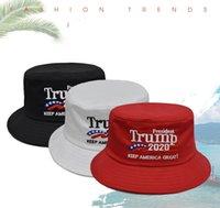 Trump Balıkçı Cap Trump 2020 Cumhurbaşkanı Seçimi Nakış Amerika Büyük Yine Şapka Açık Kova Şapka Parti Şapkası DHB792 tutun