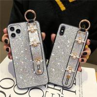 paillettes scintillanti casse sveglie belle api perle braccialetto PC per l'iPhone 11 pro max x xr xs max 6 7 8 più