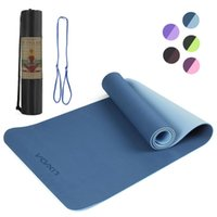 Lixada 72. 05×24. 01in Portable Double Dual- colored Yoga Mat T...