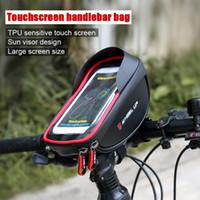 RODA UP Ciclismo Bicicleta Guiador Chefe Bolsa de bicicleta tubo do telefone móvel saco caso para MTB bicicleta da bicicleta com rodas de bicicleta caso do smartphone MX200717