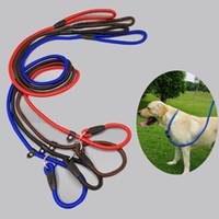 Hot DHL Dog Pet Nylon Rope Formação Leash deslizamento de chumbo alça ajustável Traction Coleira Animais corda suprimentos acessórios 0,6 * 130 centímetros F23E