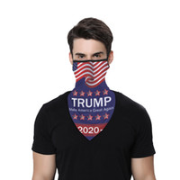미국 주식! 16 스타일 스푸핑 2020 트럼프 패턴 Headscarf 스포츠 야외 용품 다기능 사용 Magic Headscarf 파티 마스크