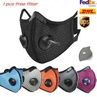 Designer Máscara Ciclismo New Face Carvão Ativado com filtro PM2.5 Anti-Poluição do esporte que funciona Máscara da proteção Formação Poeira