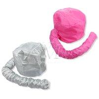 Custom Logo Sliver Pink Drying Cap Portable Hair Dryer Soft Hood Bonnet Attachment Haircare Salon Hair Dress Hair Care Styling Tool