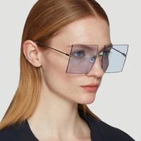 Трансграничная европейских и американских бескаркасных личности Солнцезащитные очки Metal Rice Nail 2020 New Big Box Женская Street Фото Солнцезащитные очки Целые