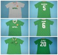 1990 أطقم قميص 1994 أيرلندا ريترو جيرسي خمر كرة القدم 6 KEANE 17 ماكغولدريك 20 KELLY 5 ماكغراث كوين TOWNSEND HOUGHTON ALDRIDGE كرة القدم