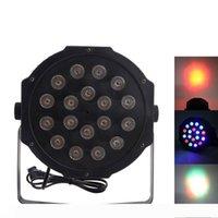 30W 18PCS تحكم RGB LED الاسمية السيارات الخفيفة صوت DMX512 عالية السطوع البسيطة المرحلة مصباح AC 110-240V الأسود