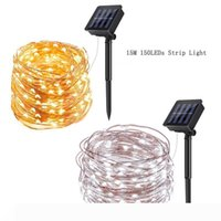 Solar String Lights 150 LED Copper Wire 2 Modes Starry Lights IP65 Decorative Fairy Lights for Gardens Home Dancing Party Christmas