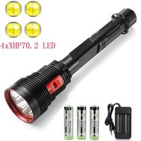 Super Bright 4 x XHP70.2 Diving IPX8 Scuba Lights 200M Underwater LED Torch Submersible lamp for Under Water Sports