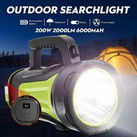 2000lm 1000m Süper Parlak İş Işık LED Spotlight Av Acil