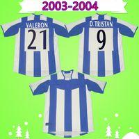 Deportivo Alaves Retro Soccer Jersey 2003 2004 DePortivo de la Coruna خمر كرة القدم قميص 03 04 Luque Magno D.Trish Camisa de Futbol
