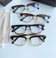 Sunglasses fashion optical frames Leopard Gold 2064 women eyeglasses men bestselling glasses clear lense Frameless With box high quality ey
