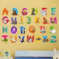 26 İngiliz Mektupları Otomatik sopa PVC Duvar Etiketler Karikatür Alfabe Çıkarılabilir su geçirmez Oturma Odası Yatak Odası Duvar Ev Dekor HA1003