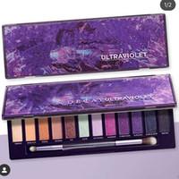 Ultraviolet Viola 12 Colore Eye Shadow Shadow Palette Eye Luminoso ombretto Shimmer Matte di alta qualità Spedizione gratuita