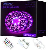 65.6ft / 20m RGB LED Strip Lights Striscia Ultra-Lunga Cambiare la striscia luminosa con remoto 600leds Light Light Lights FAI DA TE Opzioni di colore Luci nastro