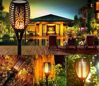 33/51/96 LED-Solar-Fackel-Licht-Taschenlampen-Lampen-Garten Flickering Lights Flamme im Freien wasserdichten Landsacpe Dekoration Rasen Pfad Spotlight