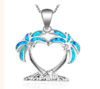 Mode Argent Rempli Bleu Imitati mer d'Opale Collier Tortue pendentif pour les femmes Femme Océan Mariage animaux Plage Bijoux Cadeau ps0701