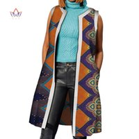 Les vêtements africains Bazin Robes africaine pour Riche femmes Dashiki longue veste de veste de manteau traditionnel Vêtements pour femmes WY4207
