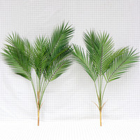 Green Artificial Palm Leaf Plastic Plants Tropical Tree Bran...