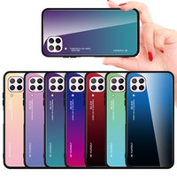 Tempered Glass Case For Huawei P40 lite P20 P30 Pro Mate 20 lite Y6 Y7 P Smart 2019 Cover on Honor 20 8X 8A 10i 10 lite 9X Case