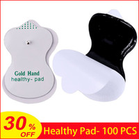 100pcs Pads saudáveis auto adesiva E-Stim Pads Eletrodo para Dezenas Acupuntura Terapia Máquina Digital Massager