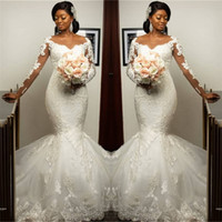 Gorgeous Sweetheart Appliques Mermaid Wedding Dresses Long- S...