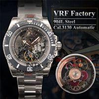 Rolex VRF مصنع 904L الصلب أفضل النسخة الفرعية اندريا بيرلو 116610 التعديل RM027 الكربون الحافة الهيكل العظمي Cal.3130 الحركة التلقائية للرجال ساعات