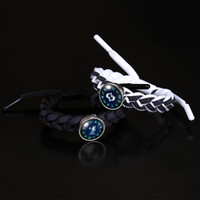 Constell reflektieren Lichtarmband Spitze einstellbares Zopf Horoskop Zeichen Glas Cabochon Armbänder Frauen Herren Modeschmuck Willens und sandiges Geschenk