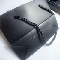 14cm di lusso Borse Nero imballaggio del regalo C gioielli Imballaggio Borse memorizzazione di monili per gli ornamenti accessori per capelli regalo Packin 10PCS / LOT SamCC