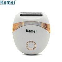 La eliminación Kemei 673 Mini pelo de la cara de la máquina de la maquinilla femenino Depiladora La eliminación del bikini pierna del brazo del condensador de ajuste del cuerpo de las mujeres depilador el cuidado del cabello
