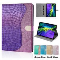 TPU cuero de la PU caja de la tableta para el iPad Pro 11 Aire iPad 3 10,5 Mini 1/2/3/4/5 Samsung Galaxy Tab 8.0 T290 A láser del brillo del soporte del tirón de la cubierta del caso